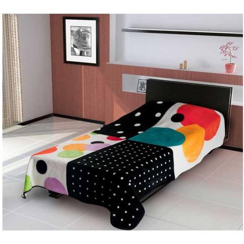 پتو کالای خواب متین مدل گلبافت 324 یک نفره سایز 220x160