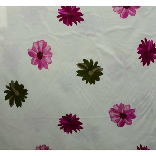 پارچه ملحفه ای ساتن کتان  کالای خواب متین مدل گلدار