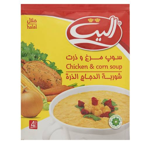 سوپ نیمه آماده مرغ و ذرت الیت مقدار 65 گرم