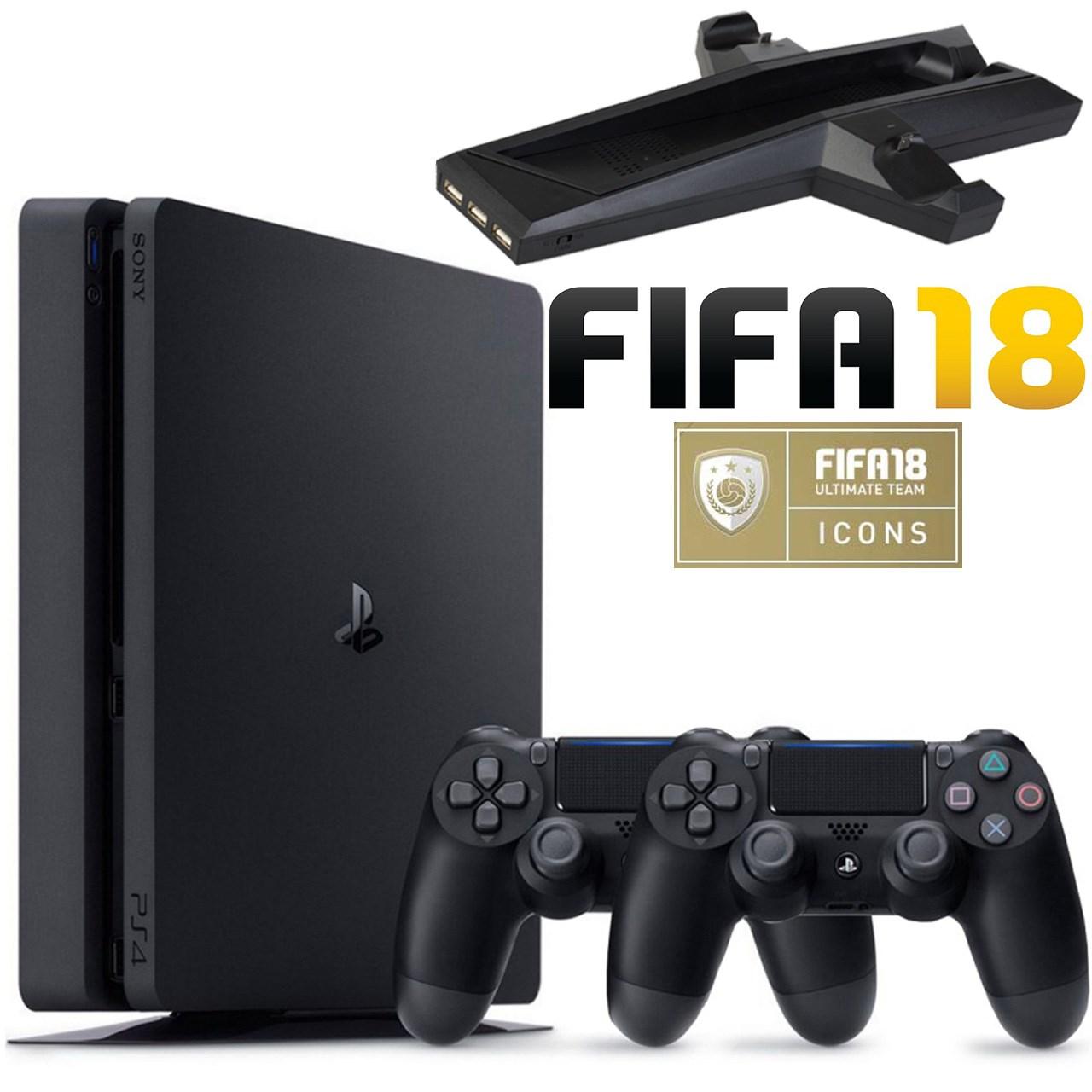 مجموعه کنسول بازی سونی مدل Playstation 4 Slim کد CUH-2116B Region 2 - ظرفیت 1 ترابایت