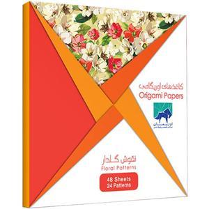 بسته کاغذ اوریگامی اوریمان طرح نقوش گلدار