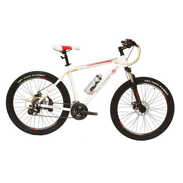 دوچرخه کوهستان اسکورپیون مدلRs 260 Ys 701 Matt White سایز 26