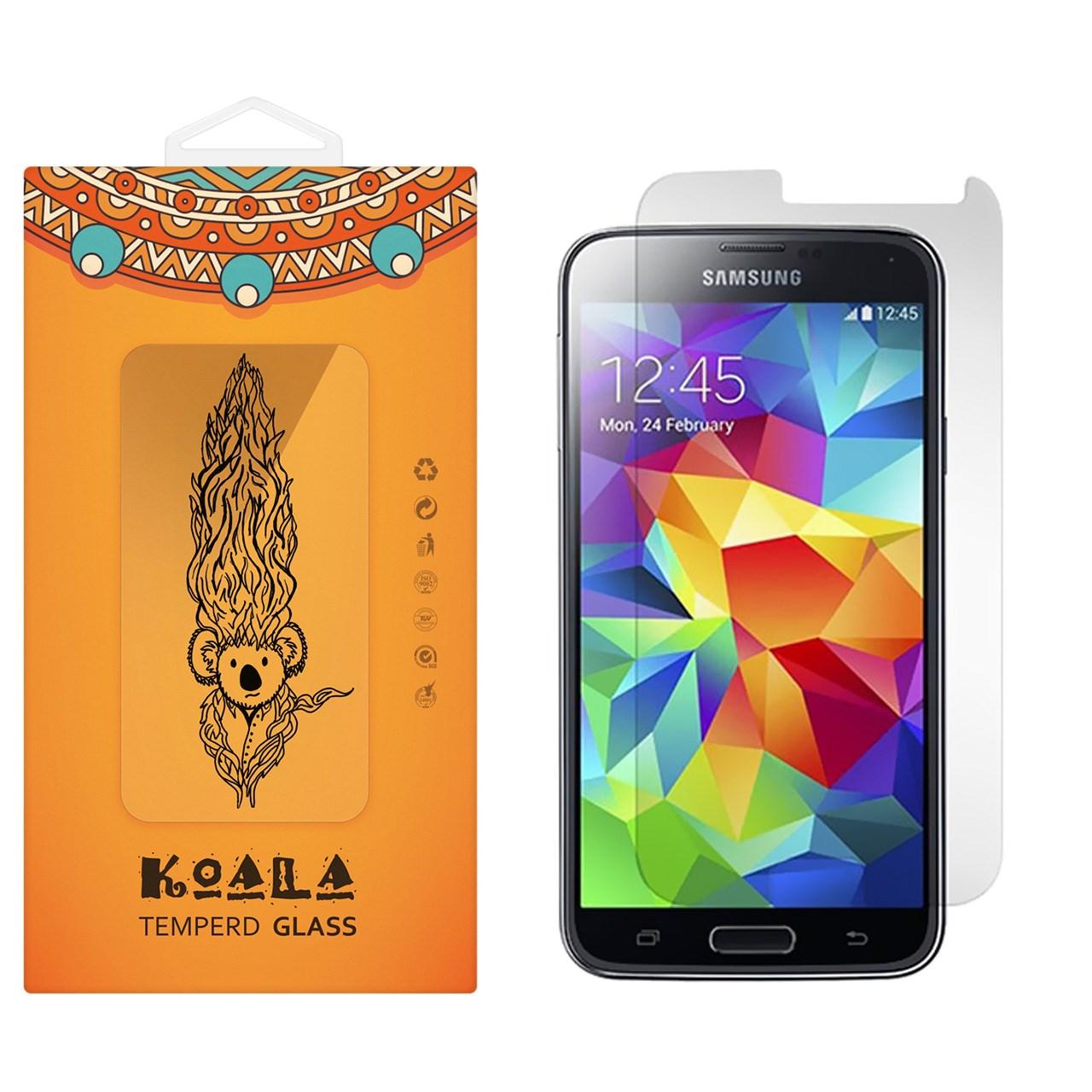محافظ صفحه نمایش شیشه ای کوالا مدل Tempered مناسب برای گوشی موبایل سامسونگ Galaxy S5