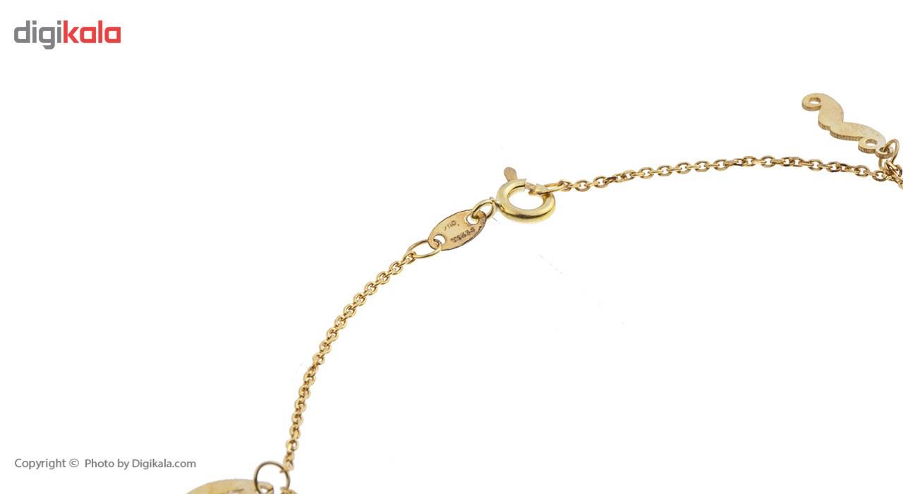 پابند طلا 18 عیار ماهک مدل MA0093 - مایا ماهک -  - 1