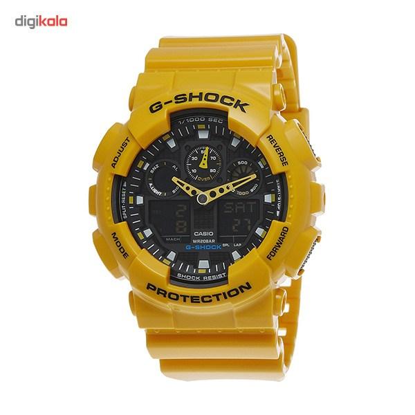خرید ساعت مچی عقربه ای مردانه کاسیو جیشاک مدل  GA-100A-9ADR
