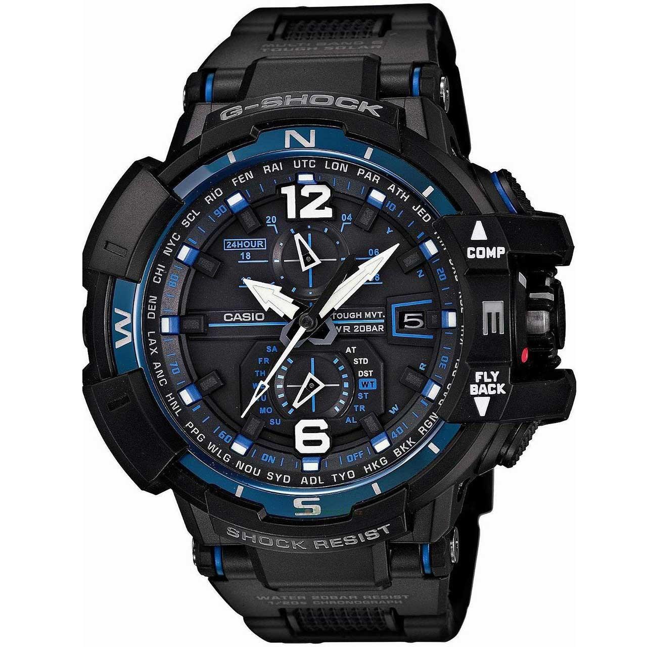 ساعت  کاسیو جی شاک مدل GW-A1100FC-1ADR