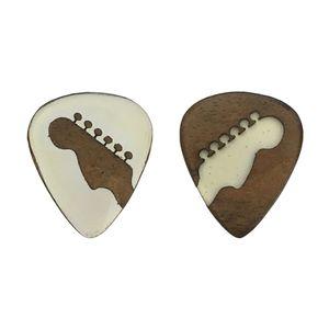 پیک چوبی  اپکسی رزین و گردو ترکیبی 2 گیتار چوپیک بسته 2 عددی
