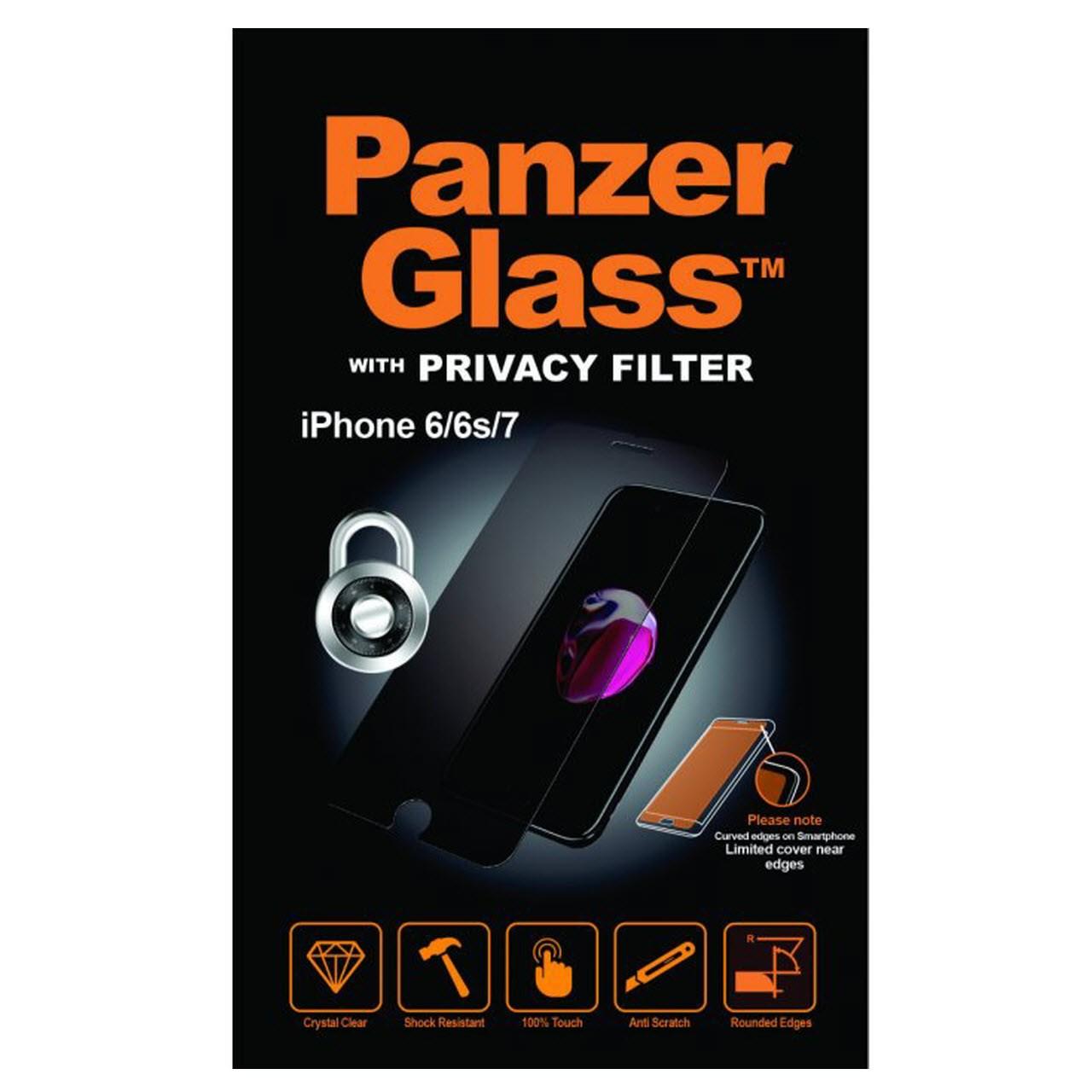 محافظ صفحه نمایش پنزر گلس مدل Privacy مناسب برای گوشی موبایل Iphone 6/6S/7