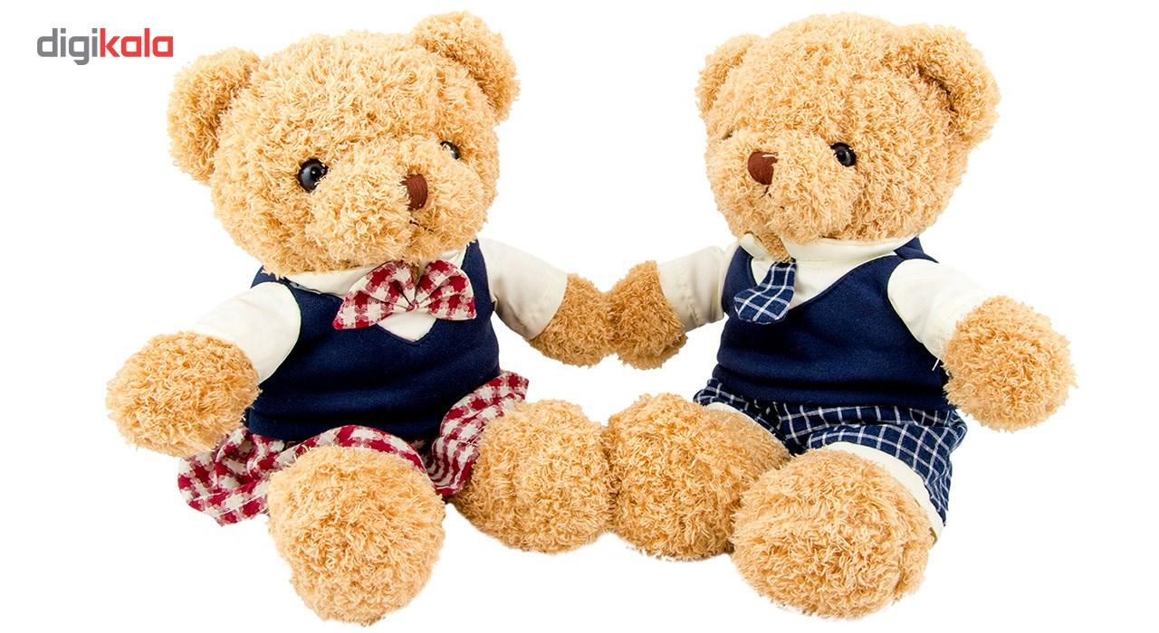 عروسک خرس Duoai بهار گالری مدل خانم و آقا بسته دو عددی