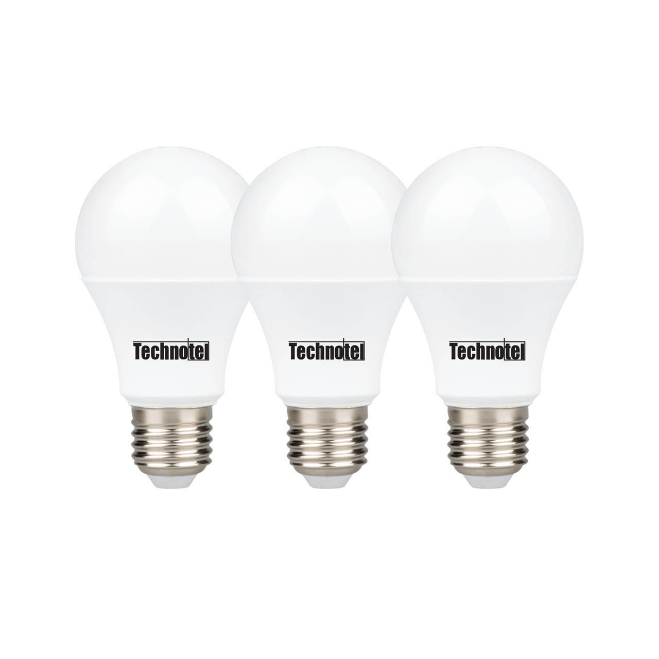 لامپ ال ای دی 9 وات تکنوتل مدل 309 پایه E27 بسته 3 عددی