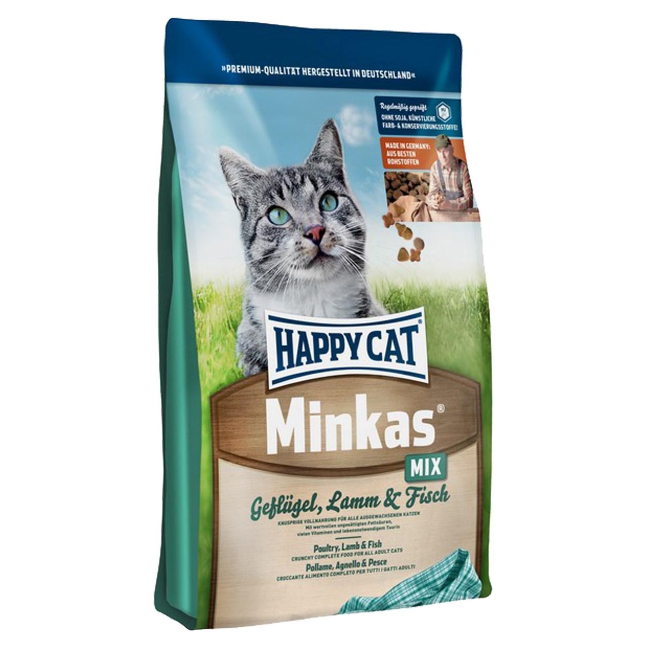 غذای خشک گربه هپی کت مدل مینکاس میکس 10 کیلوگرمی