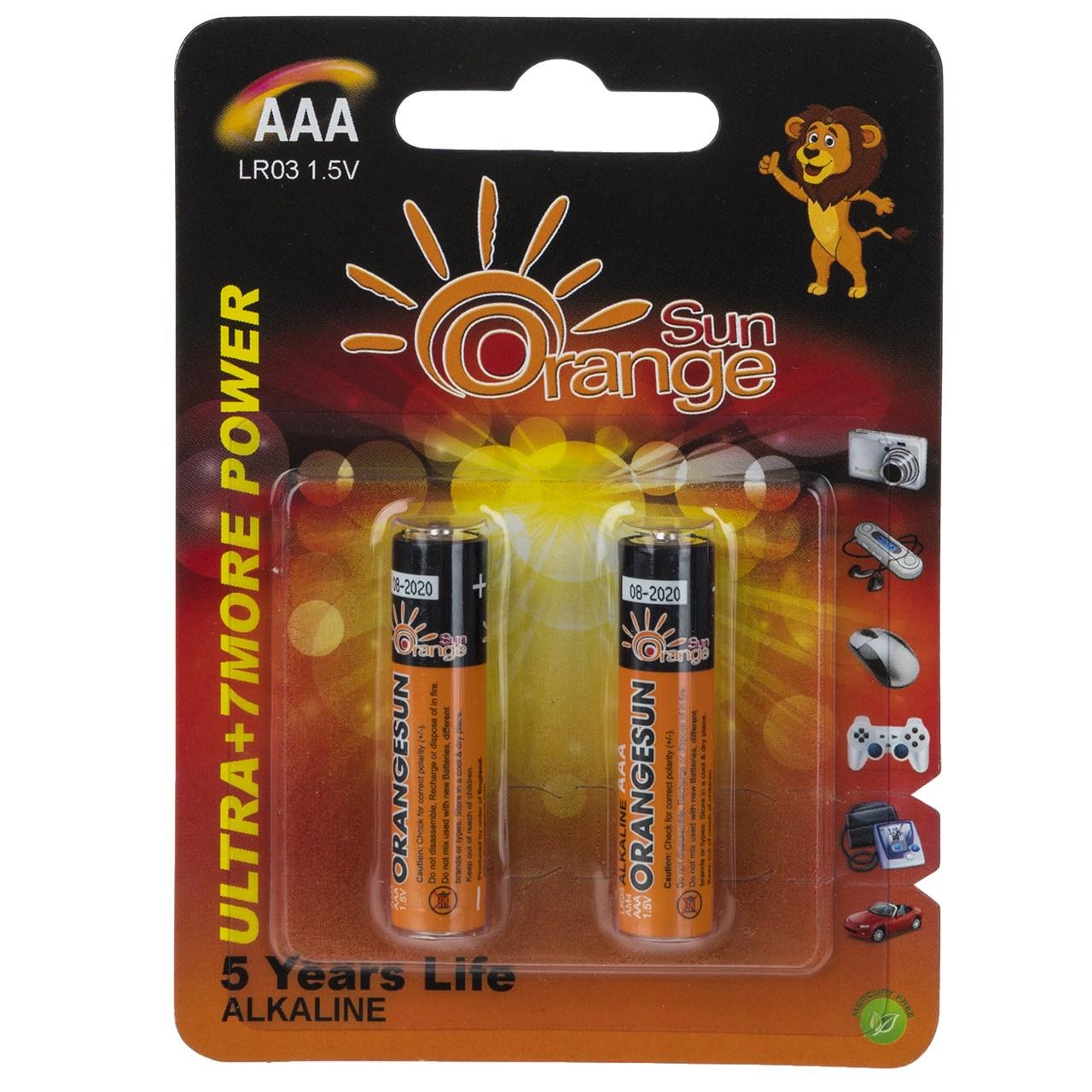 باتری نیم قلمی اورنج سان مدل Ultra Alkaline بسته 2 عددی