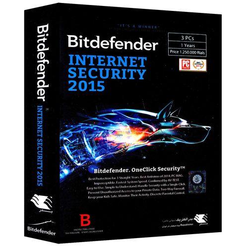 اینترنت سکیوریتی بیت دیفندر 2015 - سه کاربره - یک ساله