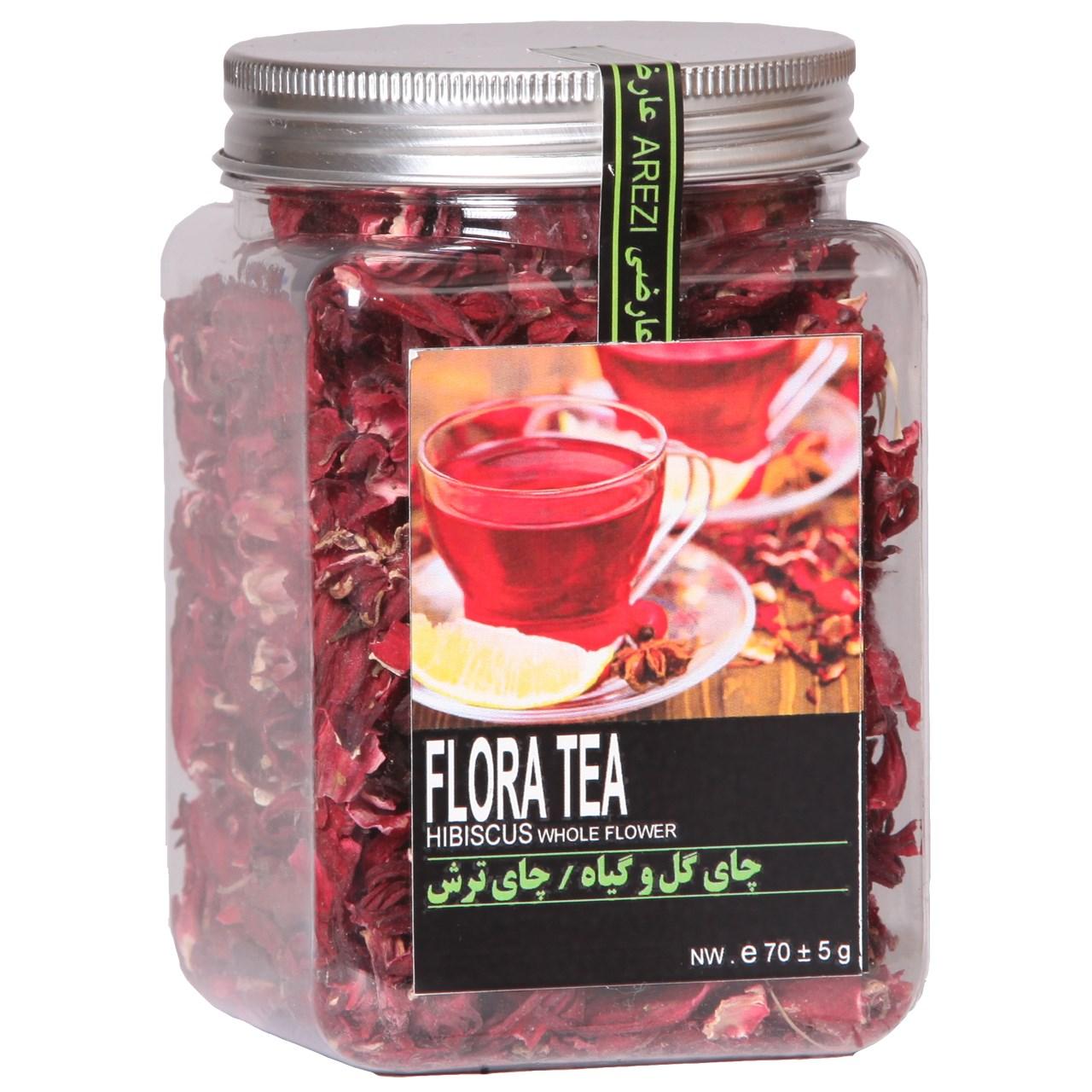 دمنوش چای ترش عارضی بسته بندی پت مدل Hibiscus Whole Flower