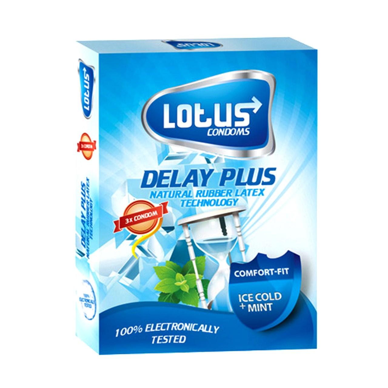 کاندوم لوتوس مدل DELAY PLUS بسته 3 عددی