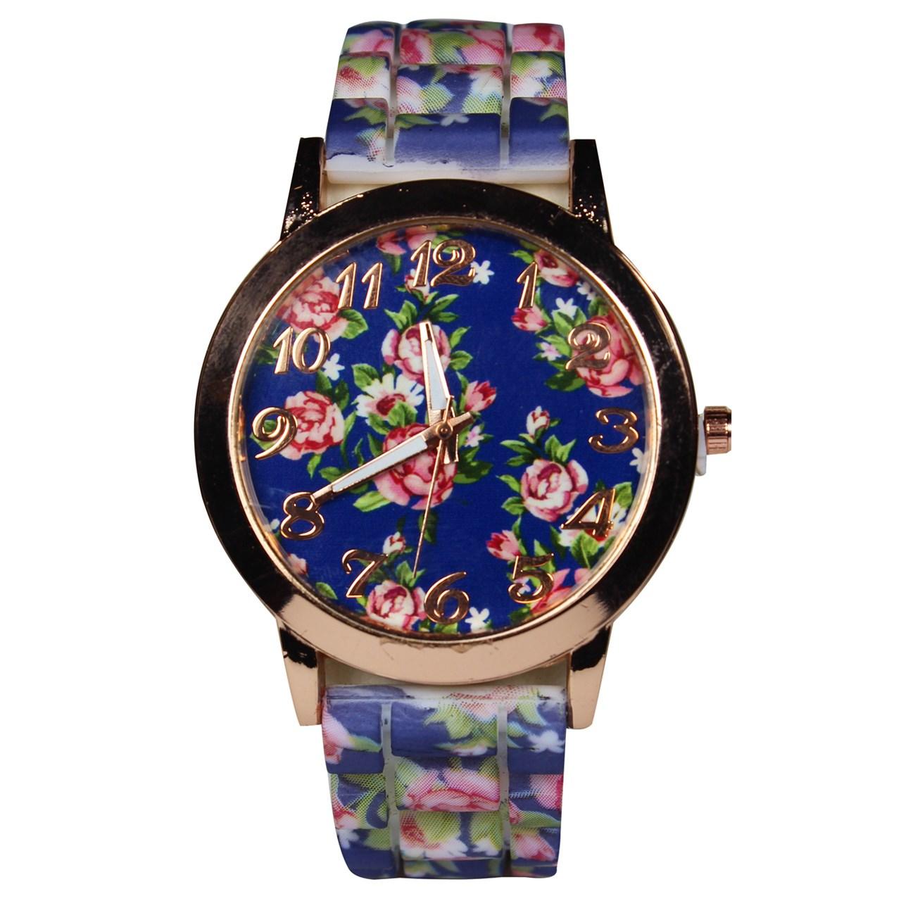 ساعت مچی عقربه ای زنانه  مدل Flower-01