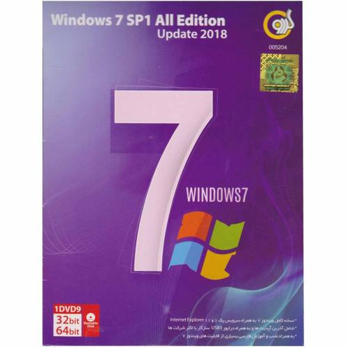 سیستم عامل  Windows 7  SP1 All Edition  Update 2018 نشر گردو