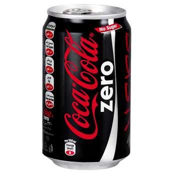 نوشابه کولازیرو کوکاکولا مقدار 0.33 لیتر