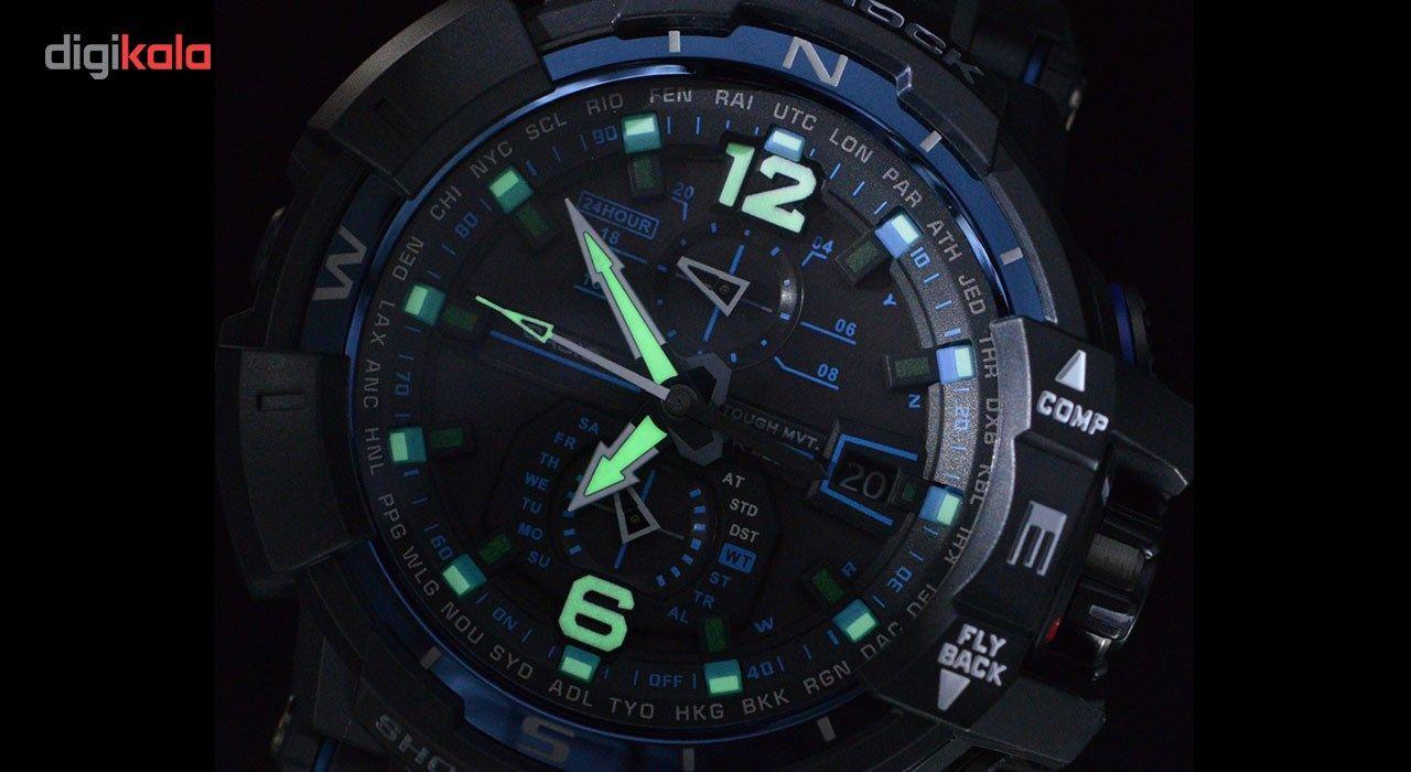 ساعت مچی عقربه ای مردانه کاسیو جی شاک مدل GW-A1100FC-1ADR -  - 11