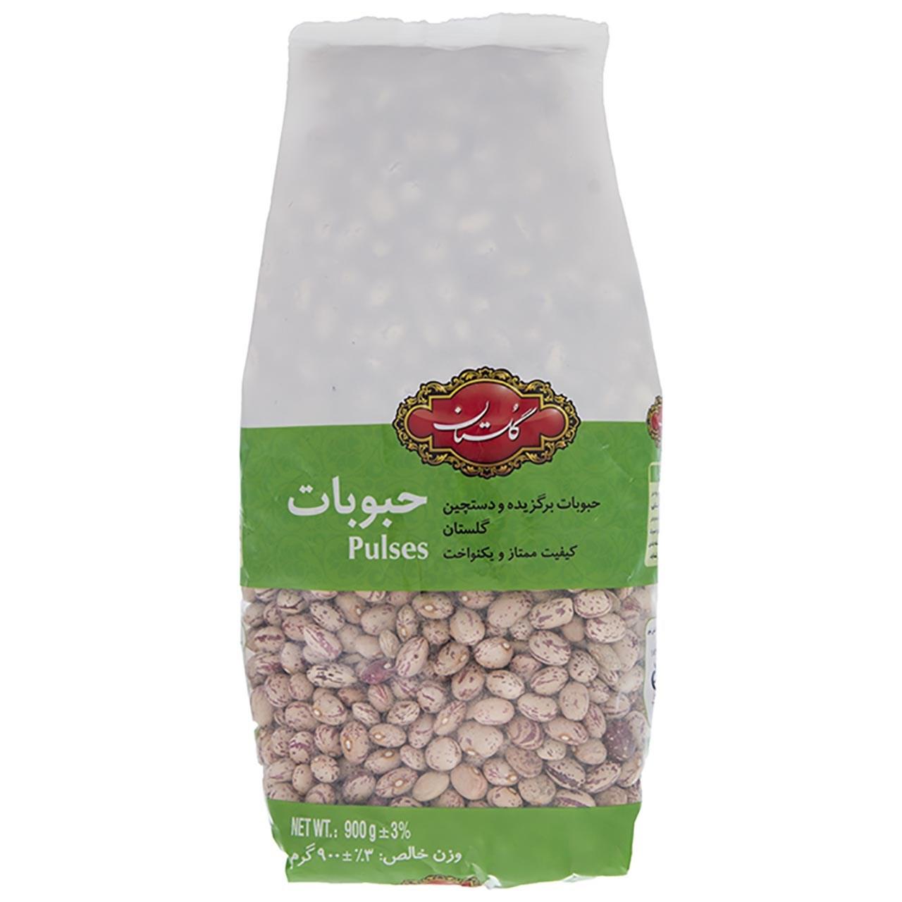 لوبیا چیتی گلستان مقدار 900 گرم