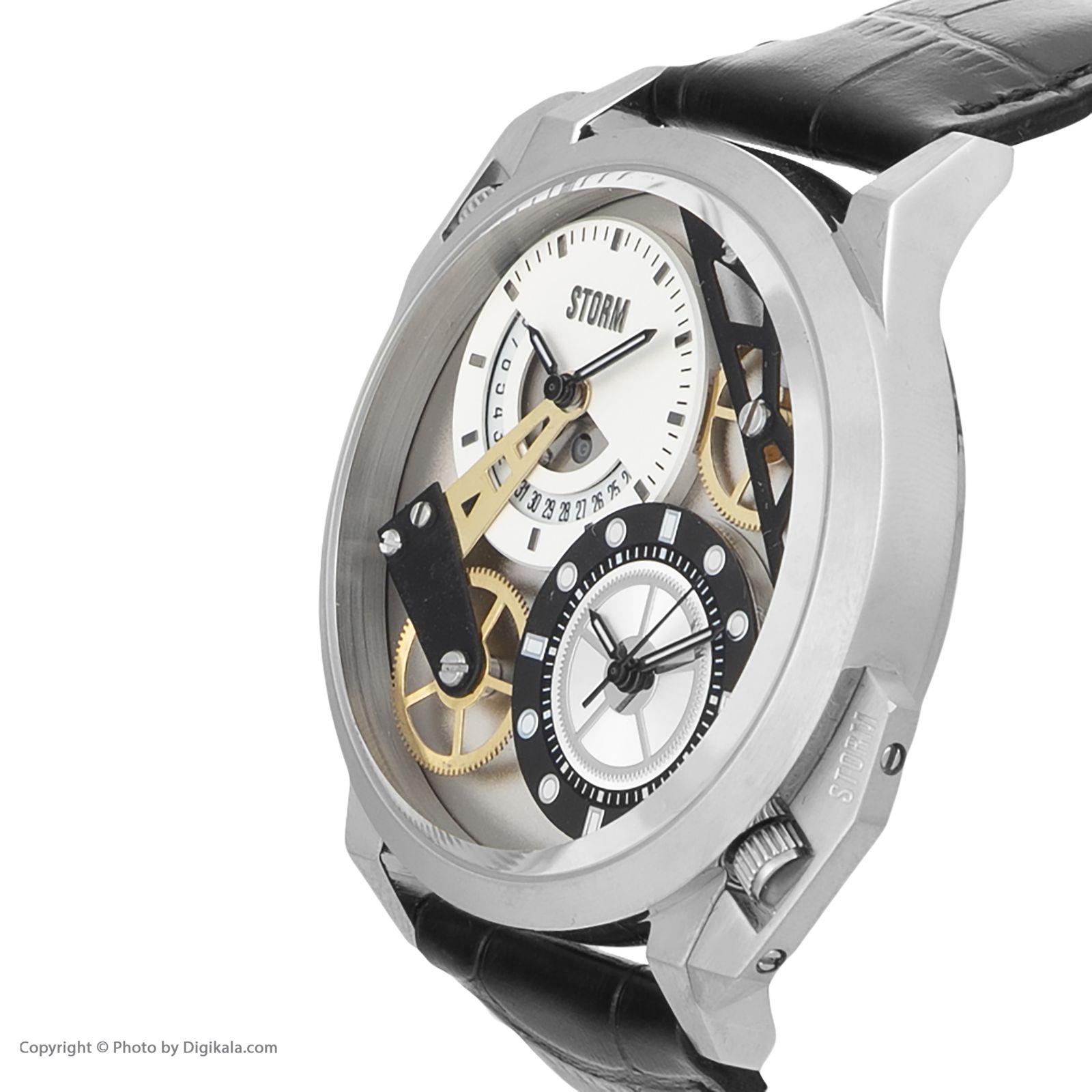 ساعت مچی عقربه ای مردانه استورم مدل ST 47147-S-BK -  - 4