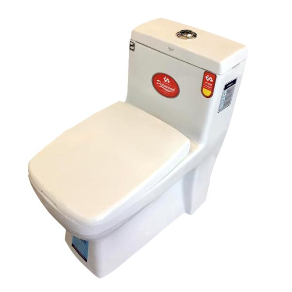 توالت فرنگی مدل دایموند بیده دار