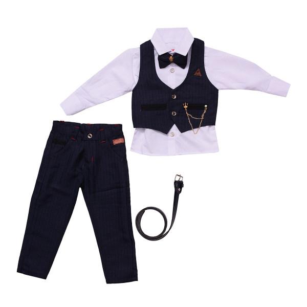 ست 5 تکه لباس پسرانه مدل MA-SP81095-SET.RS.P-SO-T رنگ سرمه ای