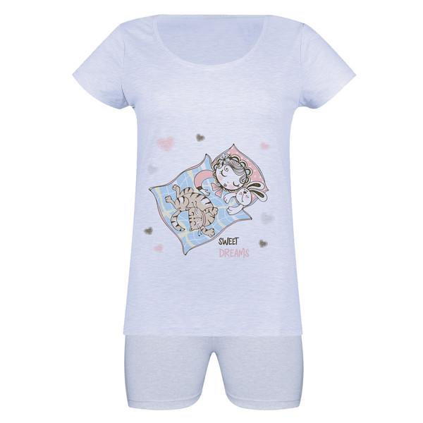 ست تی شرت و شلوارک زنانه مدل خواب خوش کد f1728o
