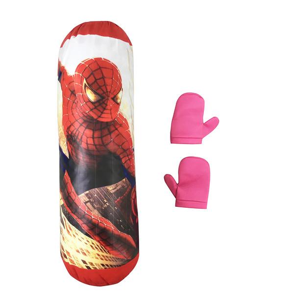 کیسه بوکس مدل مرد عنکبوتی کد 923.1 به همراه دستکش بوکس