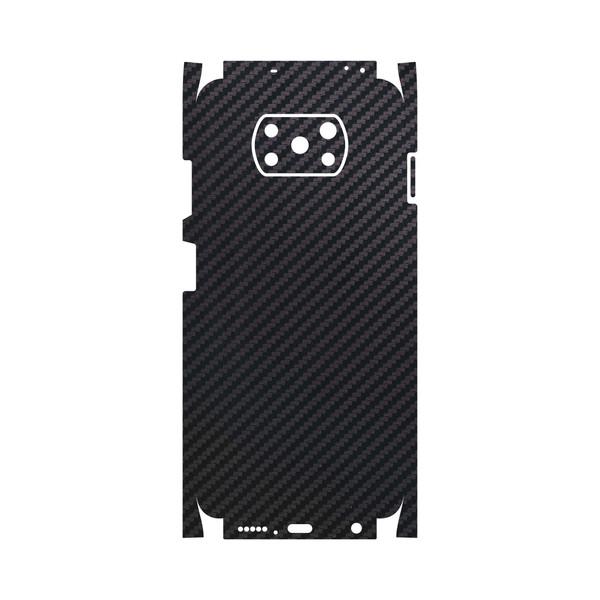 برچسب پوششی ماهوت مدل Carbon-Fiber-FullSkin مناسب برای گوشی موبایل شیائومی Poco X3 NFC