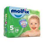 پوشک کودک مولفیکس سایز 5 بسته 28 عددی thumb
