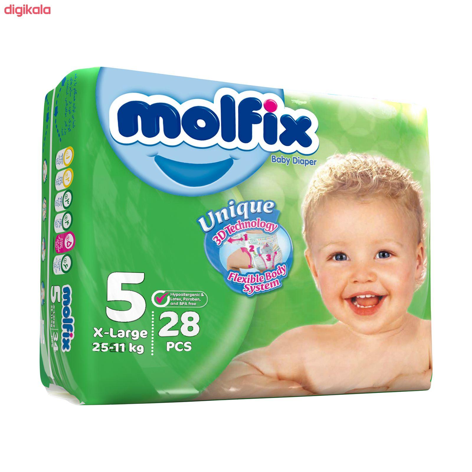 پوشک کودک مولفیکس سایز 5 بسته 28 عددی main 1 1