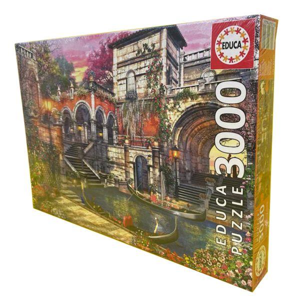 پازل 3000 تکه ادوکا مدل Venice Courtship کد 16320