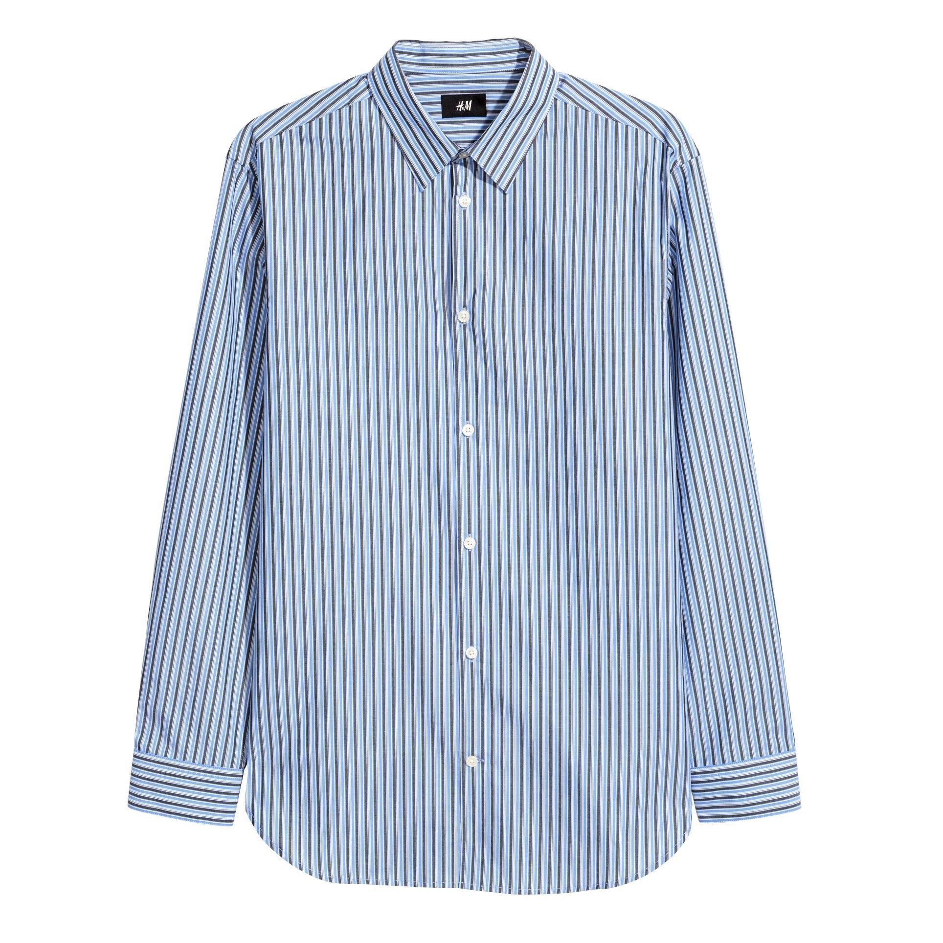 پیراهن آستین بلند مردانه اچ اند ام مدل 0547104005
