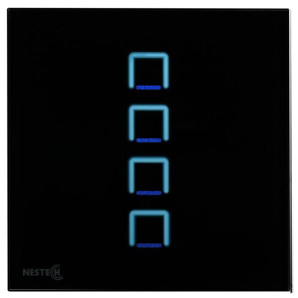 کلید لمسی هوشمند نستک مدل NE4-LS01B-G4