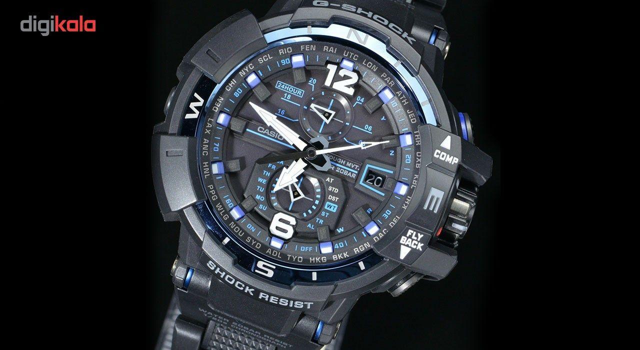 ساعت مچی عقربه ای مردانه کاسیو جی شاک مدل GW-A1100FC-1ADR