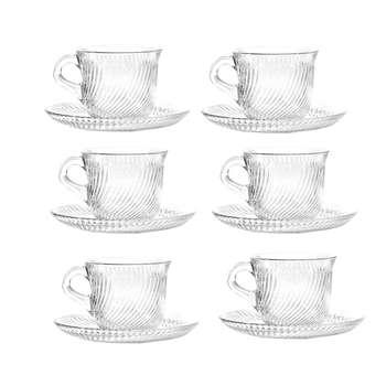 ست فنجان و نعلبکی پاشاباغچه مدل Marmara کد 97768 بسته 6 عددی