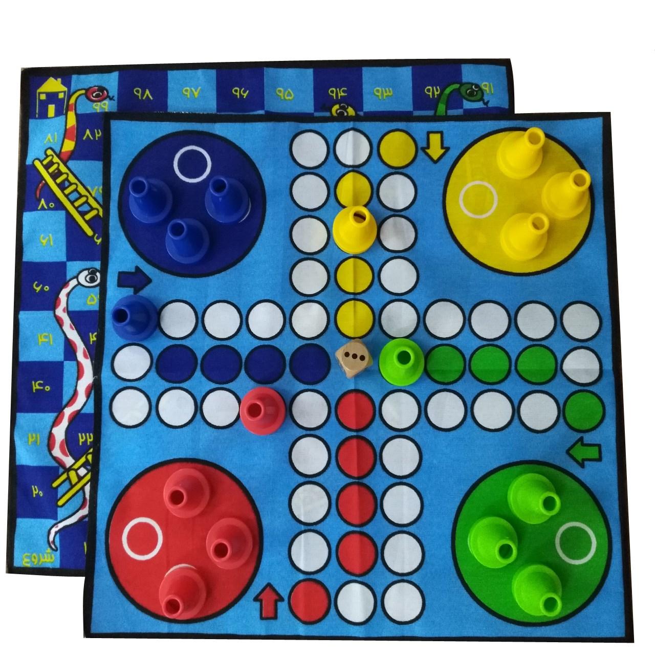 بازی منچ و مارپله پارچه ای مدلzb 2