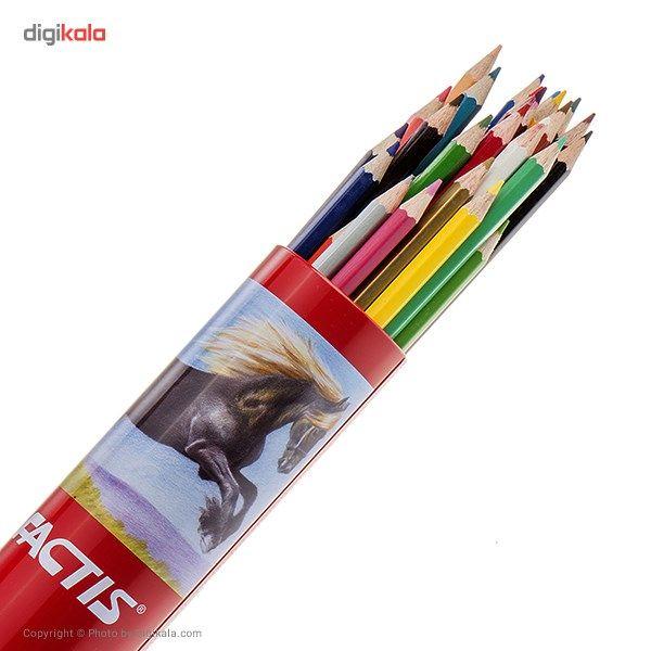 مداد رنگی 36 رنگ فکتیس با جعبه استوانهای main 1 2