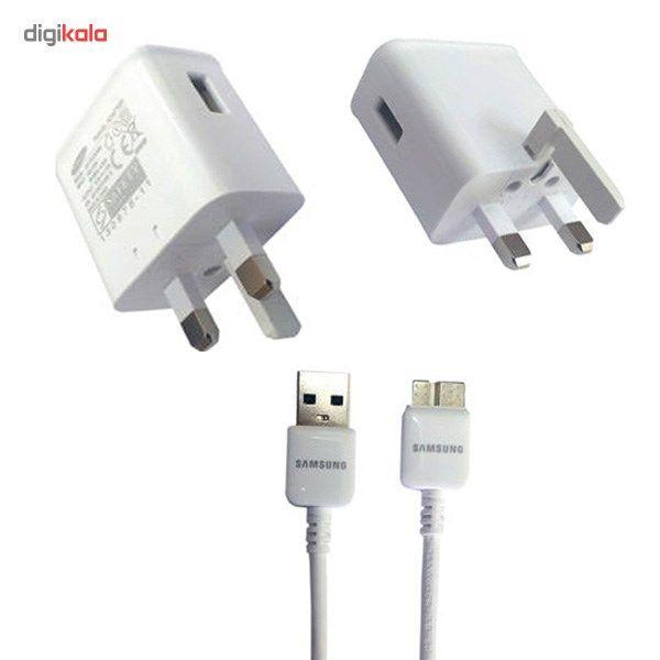 شارژر دیواری مناسب برای گوشی موبایل سامسونگ گلکسی نوت 3 به همراه کابل main 1 1