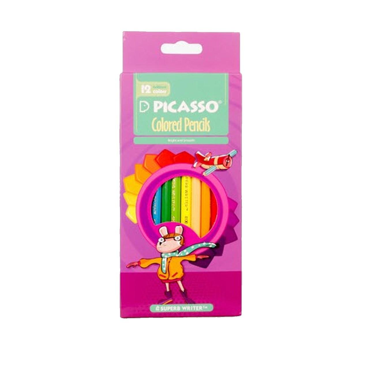 مداد رنگی 12 رنگ پیکاسو مدل superb writer