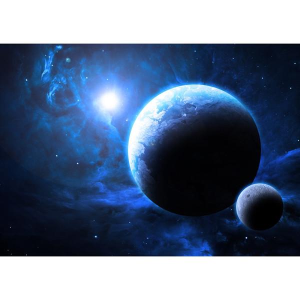 تابلو شاسی آکو طرح زمین و کهکشان f39 سایز 20x28 سانتی متر