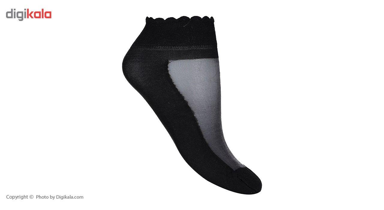 جوراب زنانه شهر شیک مدل شیشه ای کفه دار CL837B -  - 4