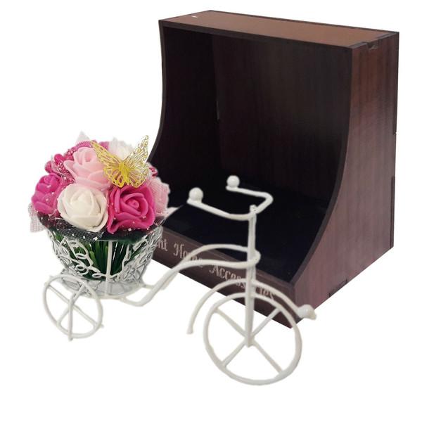 سبد گل مصنوعی ماگنولیا مدل دوچرخه