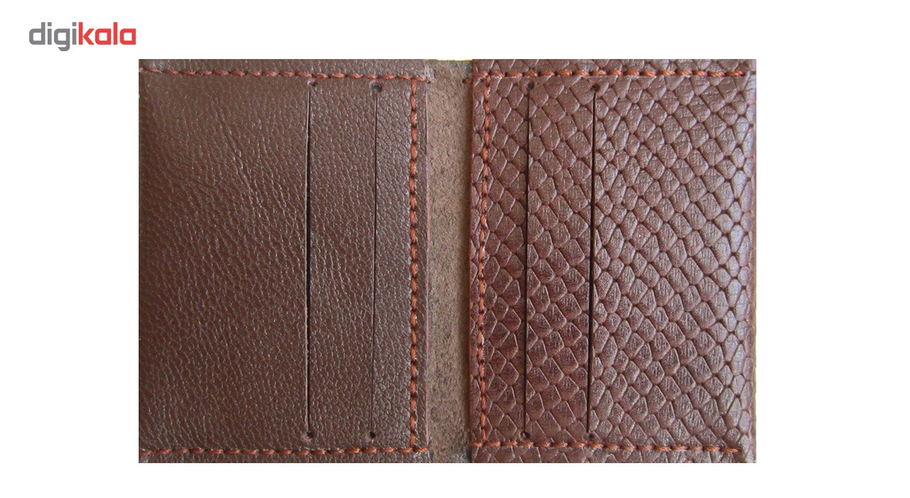 کیف کارت چرم طبیعی دستدوز مژی مدل B2-51