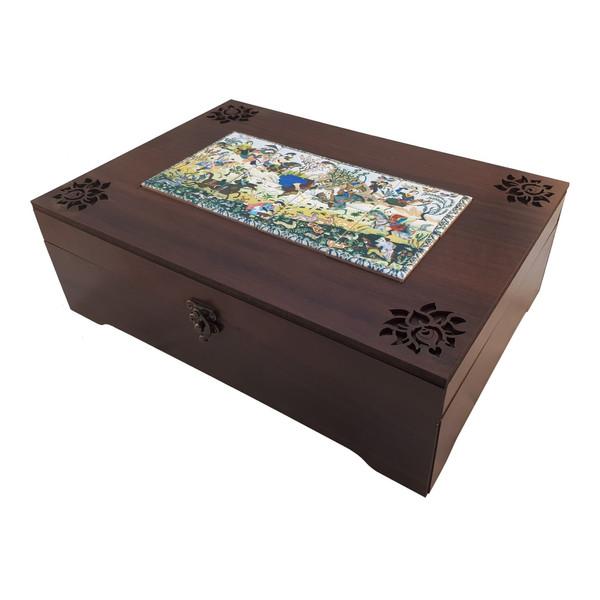 جعبه چای کیسه ای عشقی مدل شکارگاه