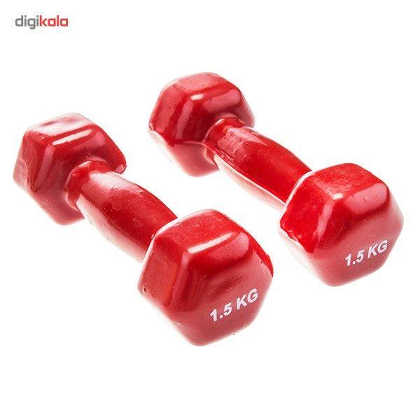 دمبل ایروبیک روکش دار 1.5 کیلوگرمی بسته دو عددی main 1 6