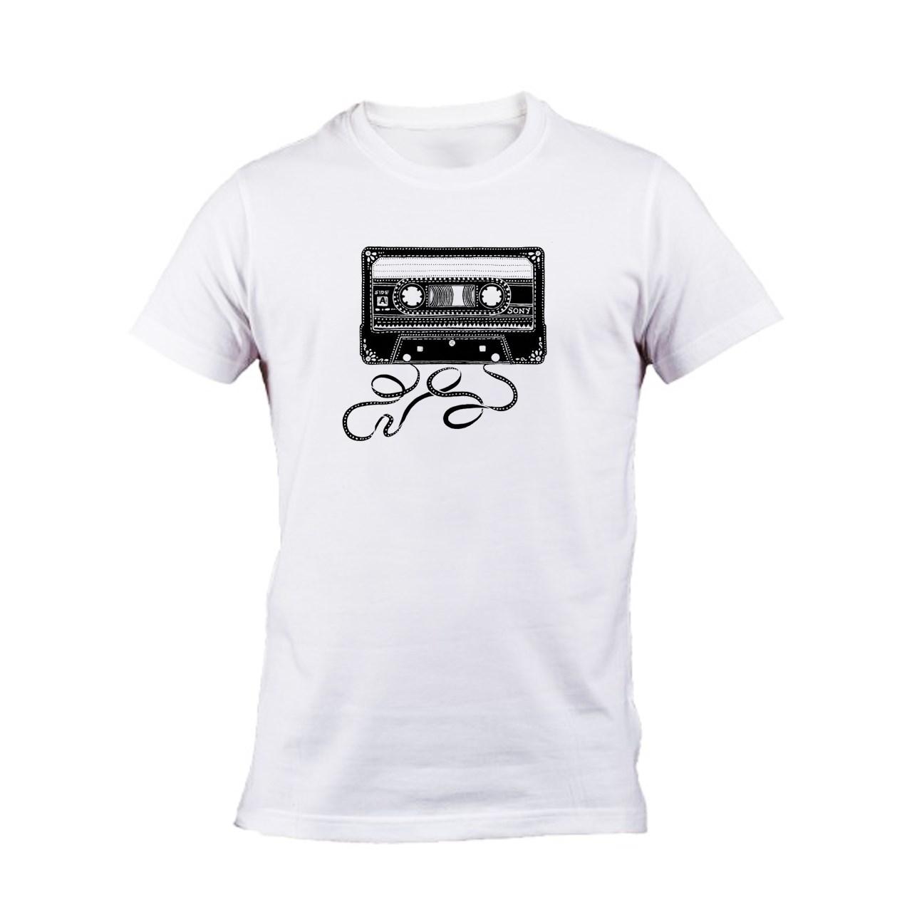 تی شرت مردانه واته آرت طرح نوار کاست کد 100