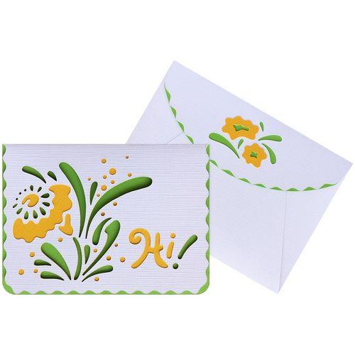 کارت پستال دست ساز هدهد کد N555