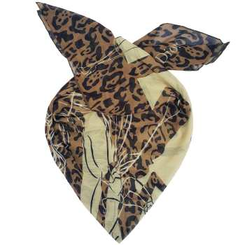 روسری حریر ابریشم روشا طرح Dior کد 02